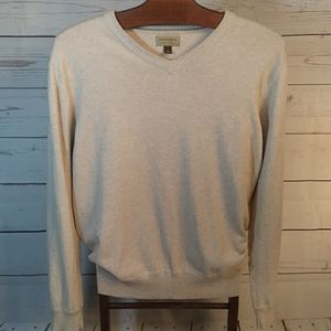 New! Oatmeal Vneck Sweater Sz Large by Sanoma